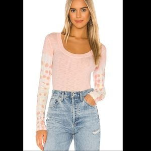 Free People Tops - FREE PEOPLE Big Sur Ribbed Top In Pink Soft Pink S